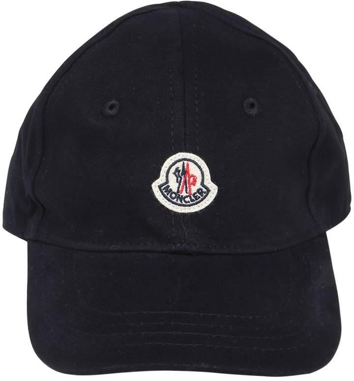 Mütze Aus Baumwollgabardine Mit Logo
