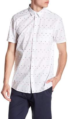 Indigo Star Derek Short Sleeve Multicolored Clipsot Woven Tailored Fit Shirt
