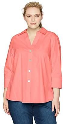 32772d4423bcdb Foxcroft Women's Plus-Size Non-Iron Essential Paige Shirt