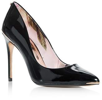 Ted Baker Women's Kaawa Patent Leather Pointed Toe Pumps