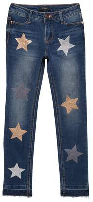 Bebe Skinny Jeans With Star Applique (Big Girls)