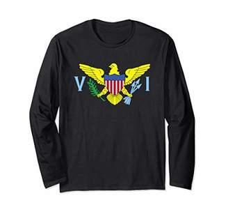 US Virgin Islands Flag Caribbean USVI Long Sleeve T-Shirt