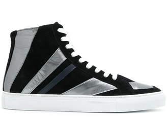 Just Cavalli striped hi-top sneakers