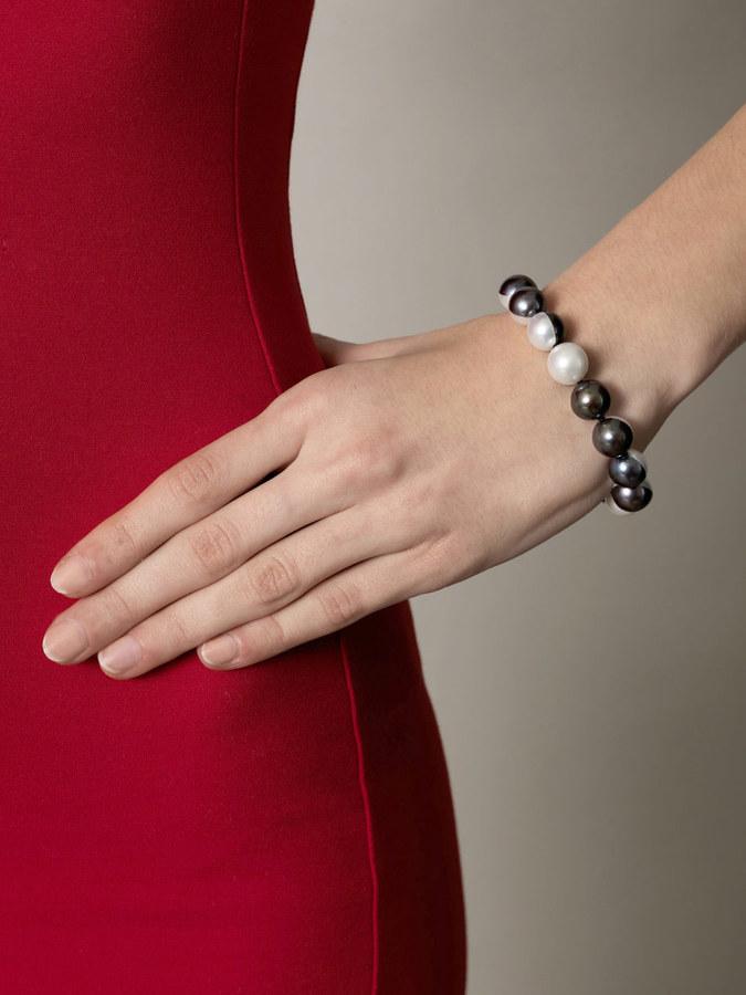 Melanie Georgacopoulos Peacock & white-pearl bracelet