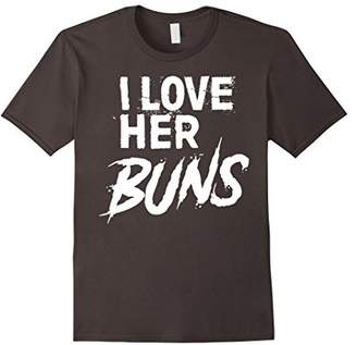Matching Workout Shirts for Couples - I Love Her Buns
