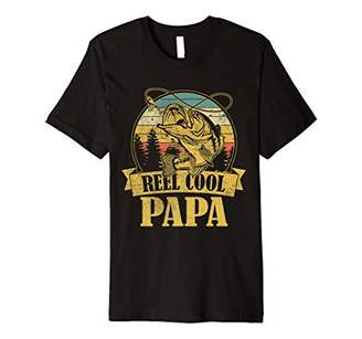 Mens Mens Father's day gift Vintage Fishing Reel Cool Papa Premium T-Shirt