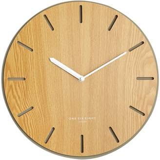 One Six Eight London Gabriel Silent Wall Clock, 35cm