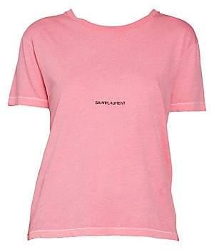 Saint Laurent Women's Rive Gauche Cotton T-Shirt