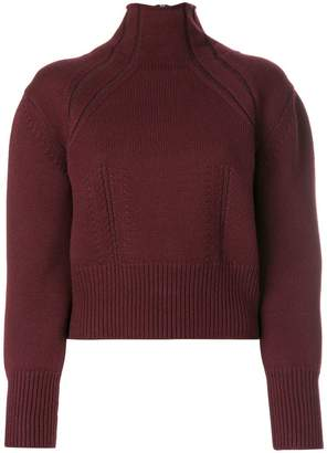 Bottega Veneta dark barolo merino sweater