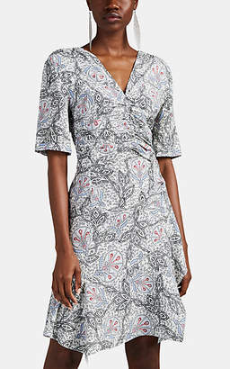 Isabel Marant Women's Arodie Ruched Abstract-Floral Midi-Dress