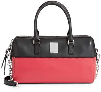 Calvin Klein Colourblock Leather Satchel