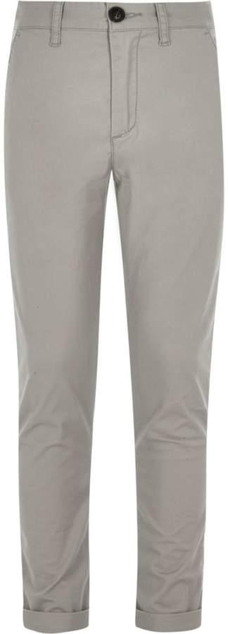Boys Grey Sid skinny fit chino trousers
