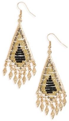 Women's Cara Beaded Drop Earrings $22 thestylecure.com