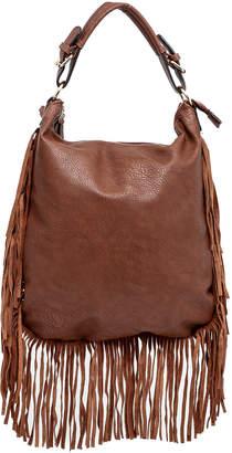 Moda Luxe Fringed Cognac Bag