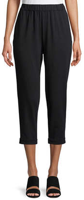 Eileen Fisher Plus Size Jersey Slouchy Cropped Pants
