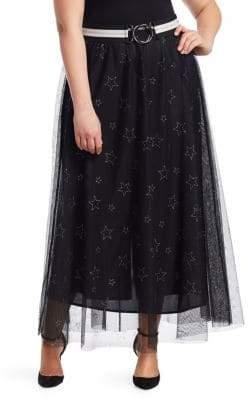 Marina Rinaldi Marina Rinaldi, Plus Size Marina Sport Star Print Tulle Skirt