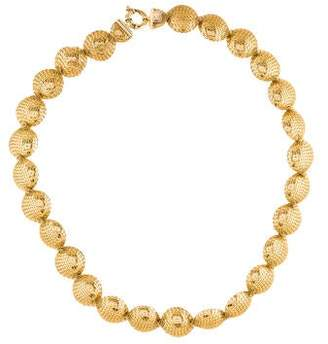 14K Wire Wrapped Disc Collar Necklace