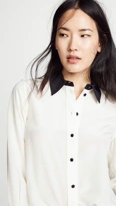 Marc Jacobs Solid Silk Button Down Top