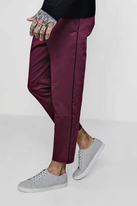 boohoo Woven Jogger Style Chino With Piping
