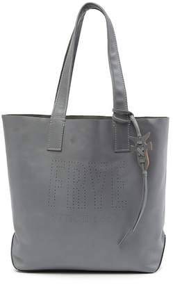 Frye Carson Perforated Logo Leather Tote Bag