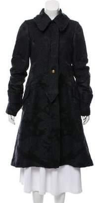 Saint Laurent Long Jacquard Coat