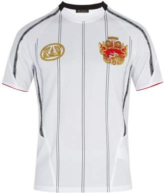 Versace Printed Jersey T Shirt - Mens - White