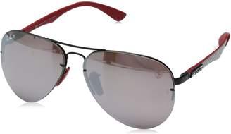 Ray-Ban Men's 0rb3460mf009h259metal Man Polarized Iridium Aviator Sunglasses, Black