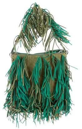 Prada Scamosciato Fringe Handle Bag