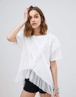 Anna Sui Spot Mesh Oversized T-shirt