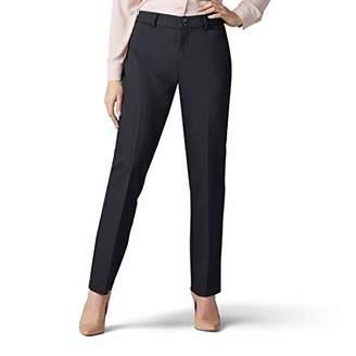 Lee Women's Petite Secretly Shapes Regular Fit Straight Leg Pant