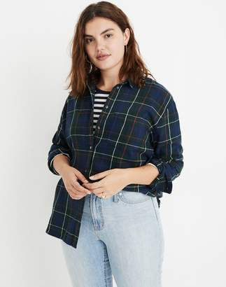 Madewell Flannel Oversized Ex-Boyfriend Shirt in Dark Plaid