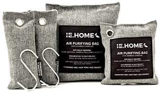 IE.HOME 100% All Natural Activated Bamboo Charcoal Air Purifying Deodorizer Bags 4 Pack Set | 3 Sizes (500g