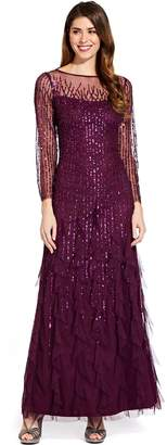 Adrianna Papell Cassis Beaded Maxi Dress