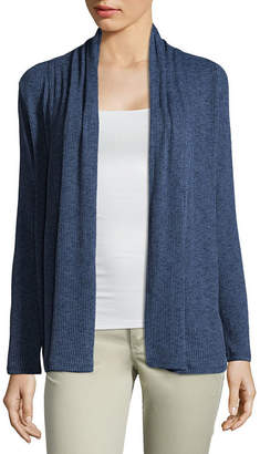A.N.A Womens Long Sleeve Cardigan-Petite