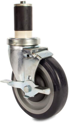 John Boos & Co. Heavy-Duty Locking Casters for Round Legs