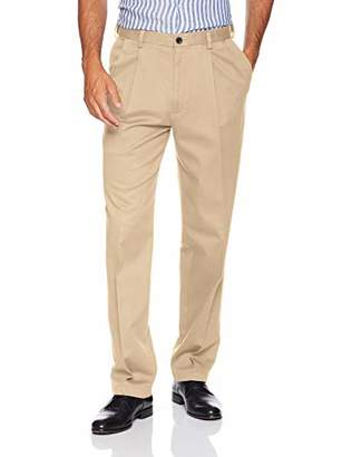Haggar Men's Work to Weekend Pro Relaxed Fit Pleat Front Pant