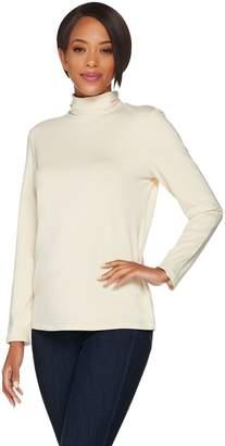 Susan Graver Modern Essentials Cotton Modal Turtleneck Top