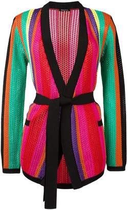 Balmain striped knitted jacket