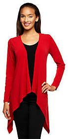 Joan Rivers Classics Collection Joan Rivers Luxe Knit Long Sleeve Cardiganw/ Lace Detail