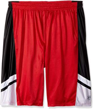 Southpole Men's Big and Tall Basic Basketball Mesh Shorts