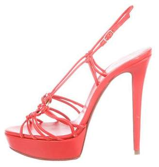 Christian Louboutin Leather Platform Sandals