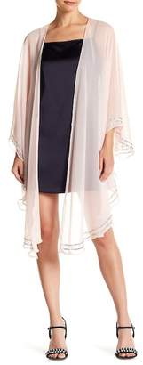 Cejon Draped Embellished Ruffle Wrap