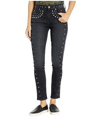Current/Elliott The Seven-Pocket High-Waist Ankle Skinny Stiletto in Luminary/Studs