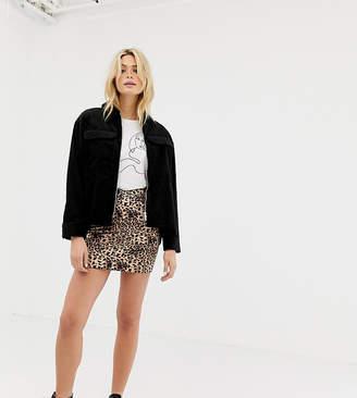 Parisian Tall leopard print skirt