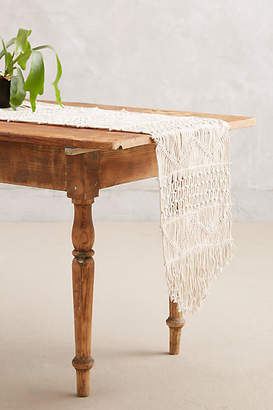 Anthropologie Handwoven Macrame Runner