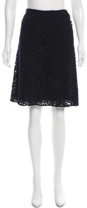 Prada Guipure Lace Knee-Length Skirt