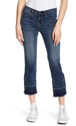 Nicole Miller New York Tribeca Released Fray Hem Straight Leg Jeans