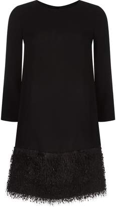 Paule Ka Fringe Hem Dress