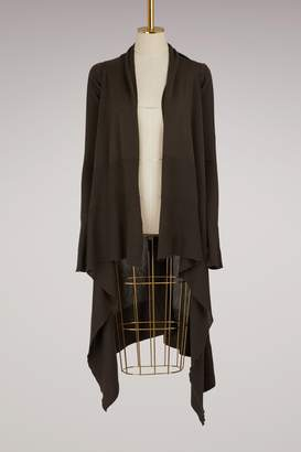 Rick Owens Wool long wrap cardigan