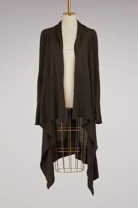 Rick Owens Wool long wrap cardigan